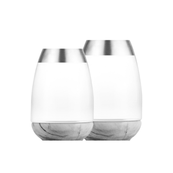 Alaya阿拉雅 银边玻璃花瓶