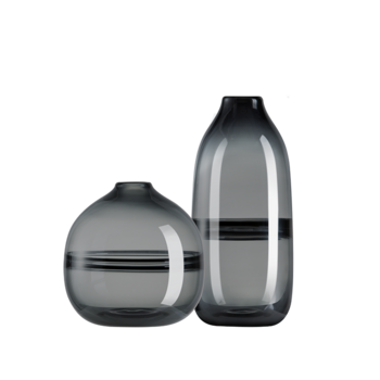 Grover格罗弗 烟灰色玻璃花瓶