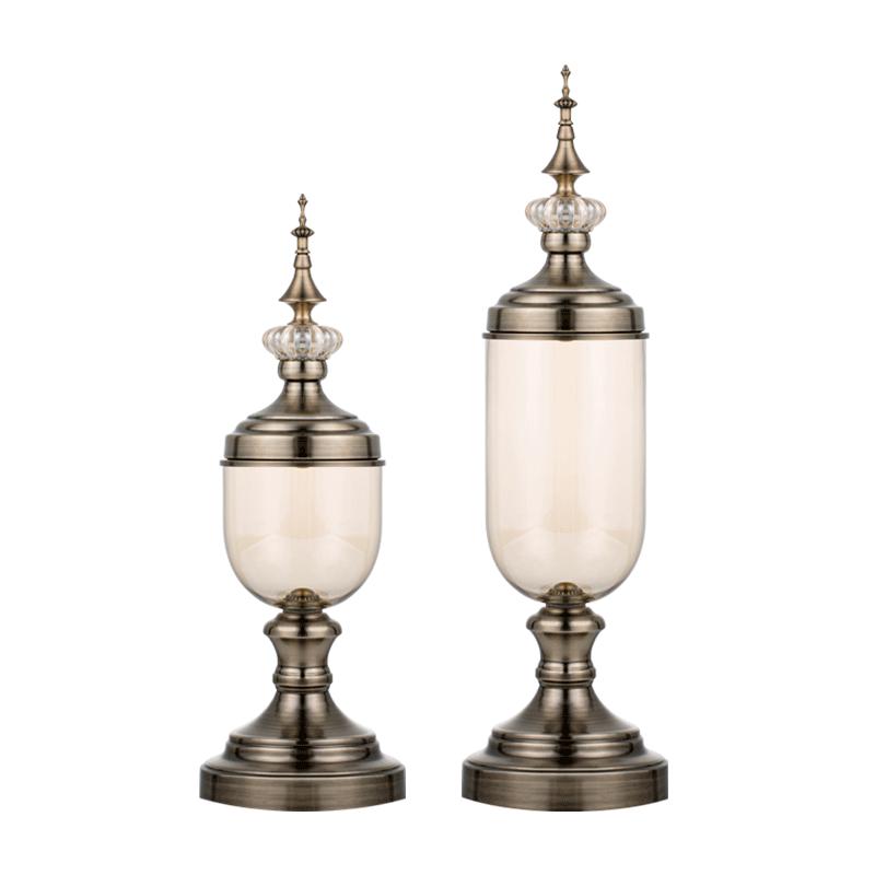 Baeyer贝耶尔 金属玻璃花瓶(2件套)