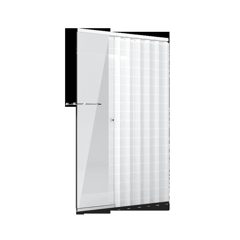一字型浴帘淋浴房(1.6m-2.0m)