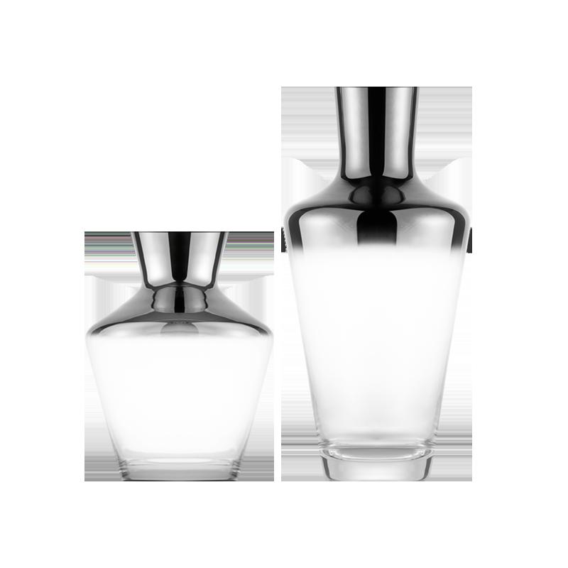 Emden埃姆登 镀银渐变玻璃花瓶