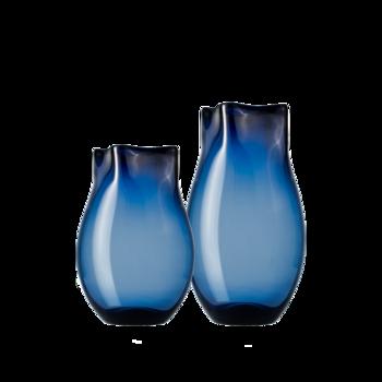 Guna古娜 藏蓝色玻璃花瓶