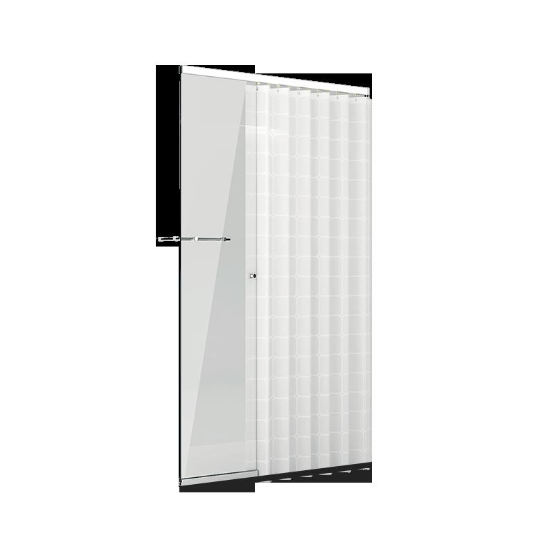 一字型浴帘淋浴房(1.2m-1.6m)